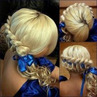 braid with ribbon | hair styles | Pinterest