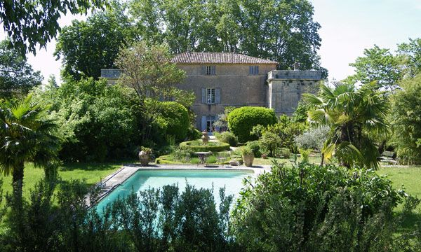 Swimming pool at Canorgue (the property featured in the Russel Crowe movie, A Good Year)