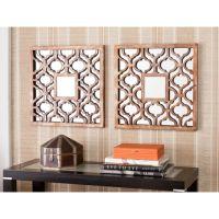 Upton Home Berendo Square Decorative Wall Mirror 2pc Set