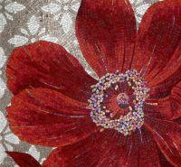 Red Floral Mosaic Tile :: SICIS | MOSAIC | Pinterest