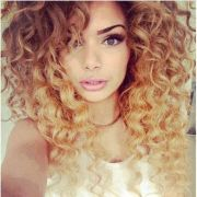 caramel ombre curly hair nail