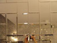 Beveled mirror subway tile {set in herringbone}   Kitchens ...