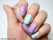 matte purple & turquoise check