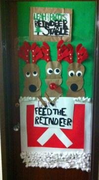 reindeer door decoration contest | just b.CAUSE