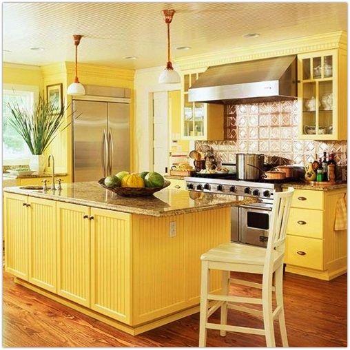 buttery yellow kitchen