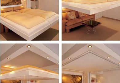 Furniture For The 1 Amazing Cantilevered Bed Drops Down From Ceiling