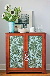 Fabric covered cabinet doors | Repurpose Cabinet Doors ...