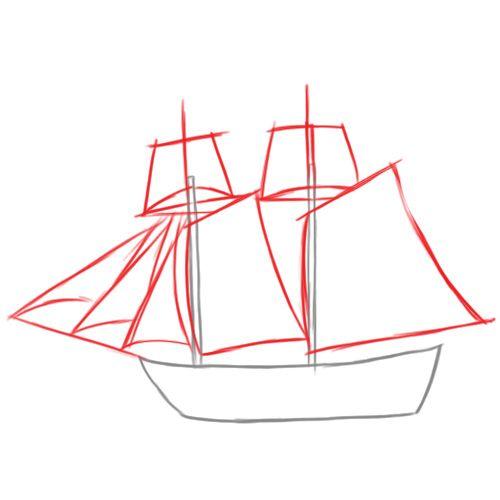 Ship Steps Easy Draw Pirate