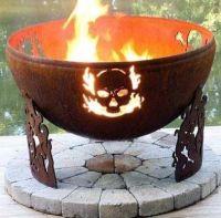 Awesome skull fire pit, | Backyard retreat | Pinterest