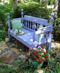 Garden bench made from a bed frame. | Projects | Pinterest