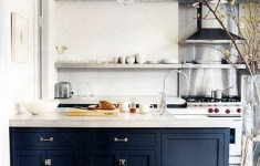 21 Deluxe Navy Kitchen Cabinets That Abound With Glamour And Serenity