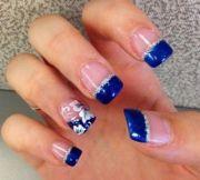 beautiful blue nails gel
