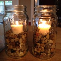 Mason Jar Candle holder | DIY & Crafts | Pinterest