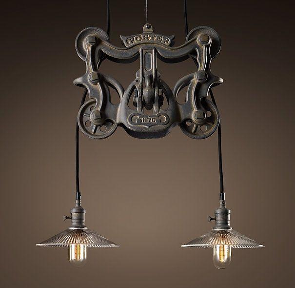bar lighting  restoration hardware  For the Home  Pinterest