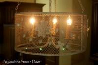chandelier chicken wire drum shade   DIY   Pinterest