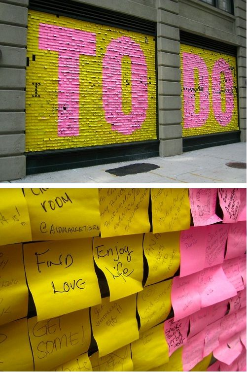To Do List - NYC public art installation - Post It
