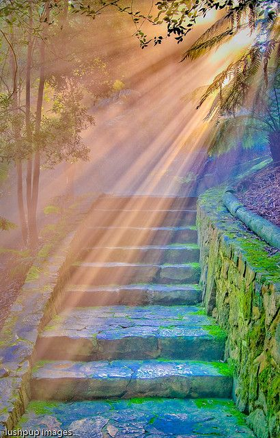 Sunlit Stairs