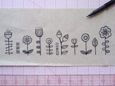 Would make a cute embroidery pattern.