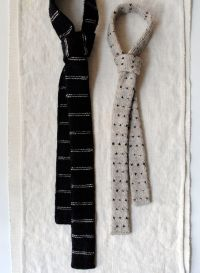 Knit ties # mens fashion