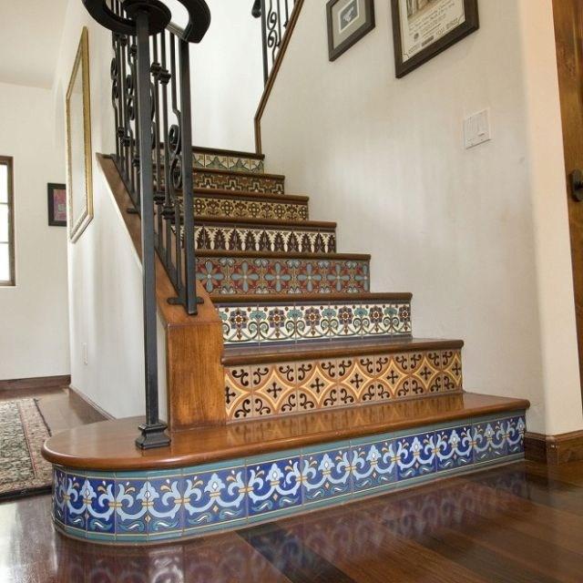 Beautiful Tile Stair Risers All Things Design Pinterest   Stair Riser Tiles Designs