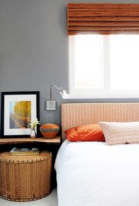 Grey and Orange Bedroom | For the Home | Pinterest