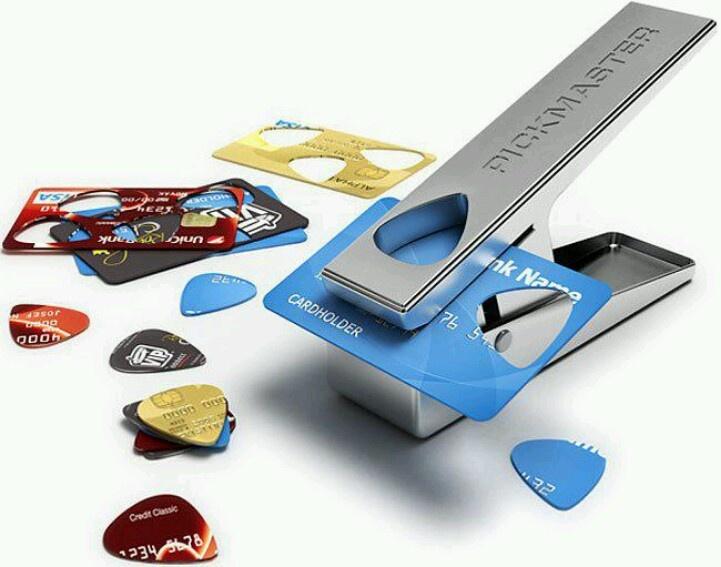 Make Guitar Picks Credit Cards