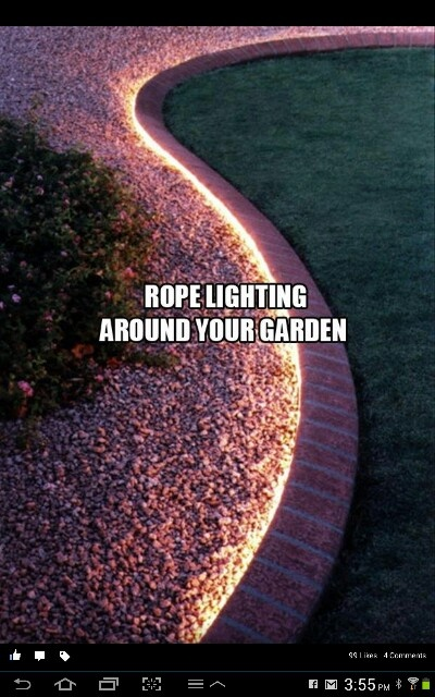 More rope lighting ideas  Outdoor Inspiration  Pinterest
