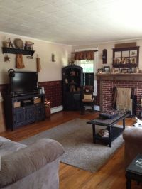 Primitive living room | Primitive and Country home decor ...