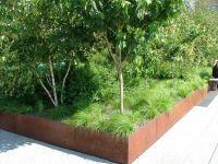 corten steel planter box. | Landscaping | Pinterest