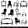 Chair clip art clipart chair silhouettes furniture clip art clipart