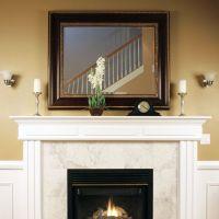 Custom size mirror over fireplace | Mirrors | Pinterest