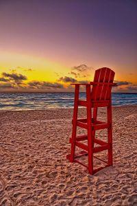 Lifeguard Chair Print by Brian Mollenkopf