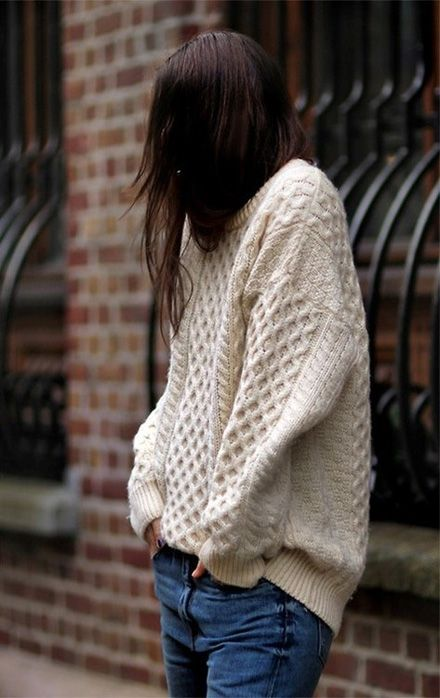 A nice big Irish cable knit sweater (I believe they have some at the Irish Store, though Im not sure how good they are)
