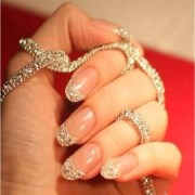 blinged nails glam
