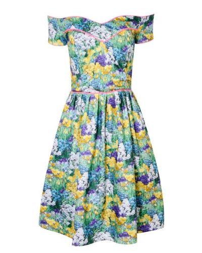 Amalee Floral Skater Dress - Sale | LashesofLondon.com