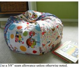 Bean Bag Chairs - Free Pattern - sew-whats-new.com