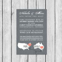 Wedding Invitation Wording Long Distance ~ Matik for