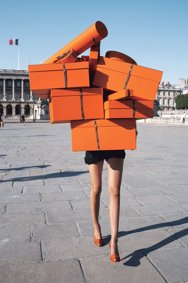 Dream shopping excursion would result in a tower of Hermes boxes.