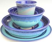 Ceramic Dinnerware Set - Made to Order - Cobalt Blue Turquoise