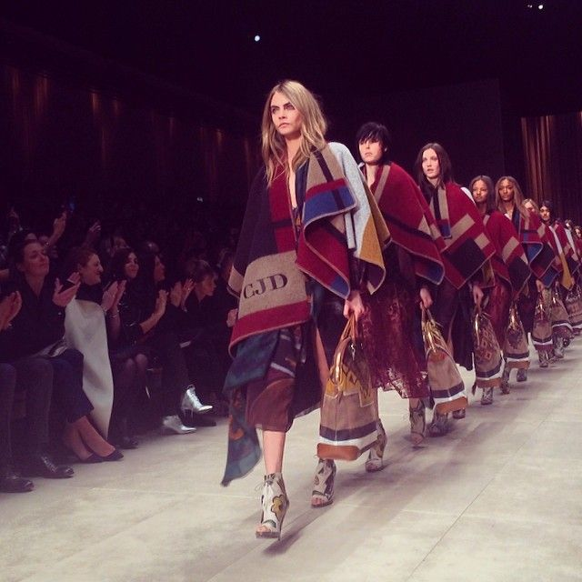 Personalised ponchos for the #Burberry Prorsum A/W14 finale #LFW