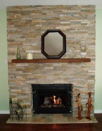 re-faced fireplace   For the Home   Pinterest