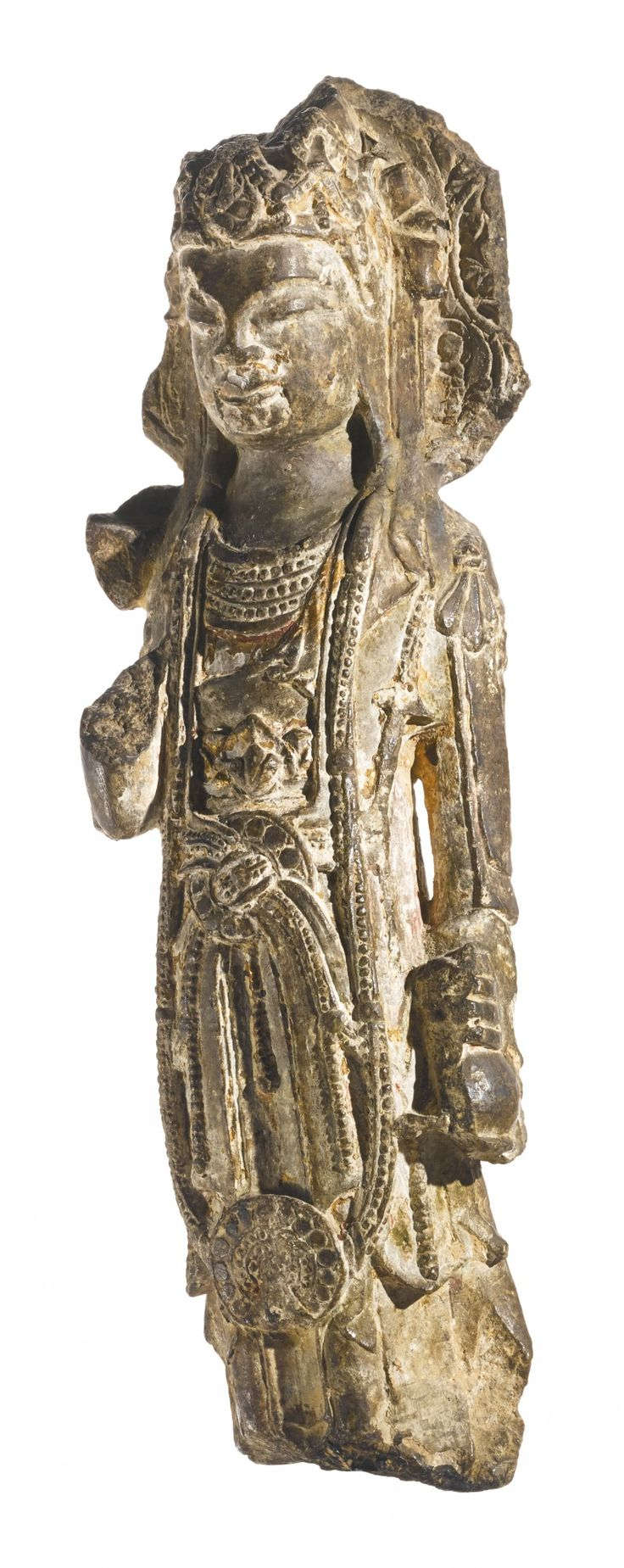 A stone figure of a bodhisattva, China, Sui Dynasty