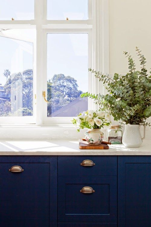 Navy blue kitchen cabinets  KitchenDining  Pinterest