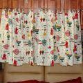 1960 s curtains retro vintage kitchen decor 4 by gypsyseller on etsy