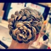 dutch flower braid hair design