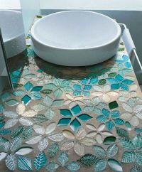 floral-Mosaic-Tiles-Bathroom- | Tile | Pinterest