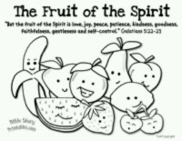 Fruit of the spirit coloring page | Coloring pages | Pinterest