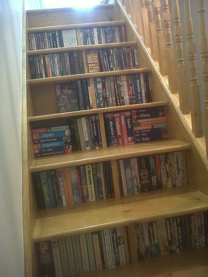 Bookcase Stairs Stairs Bookcase | Dream Home: Library & Office | Pinterest