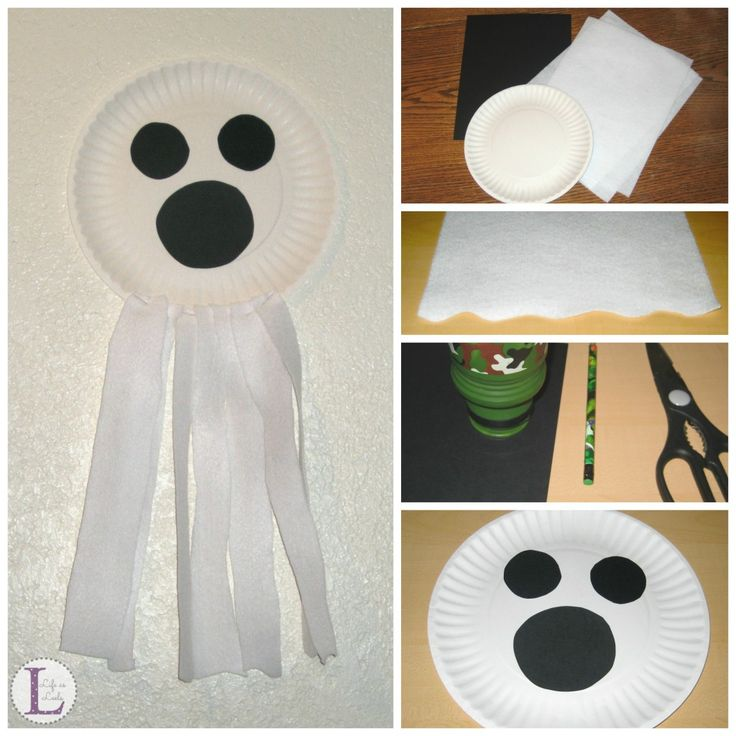 Paper Plate Ghost {Halloween #Craft}