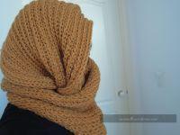 Loom Knit circle scarf